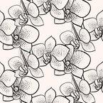 Stilisierte Punkt Orchideen Nahtloses Vektormuster