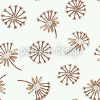 Dandelion Seamless Vector Pattern