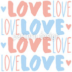 Love Is All You Need Seamless Vector Pattern Design
