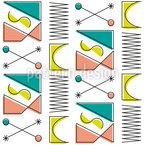 Interpretação de Memphis Design de padrão vetorial sem costura