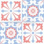 Azulejos Renascentistas Design de padrão vetorial sem costura