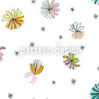 Filigree Blossoms Seamless Vector Pattern Design