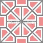 Roda octogonal Design de padrão vetorial sem costura