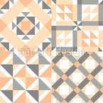 Patchwork escandinavo Estampado Vectorial Sin Costura
