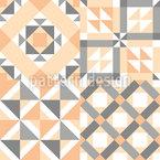 Skandinavisches Fleckchen Muster Design