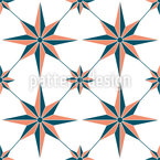 Nautical Star Seamless Vector Pattern Design