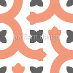 Line of Tendrils Seamless Vector Pattern Design