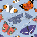 Flatternde Schmetterlinge Rapportiertes Design