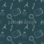 Chemistry Doodle Seamless Vector Pattern Design