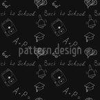 Zurück zur Schule Doodles Muster Design