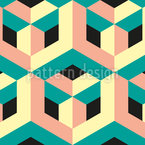 3D Construction Seamless Vector Pattern