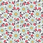 Scandi Flora Seamless Vector Pattern Design