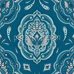 Floral Indian Paisley Repeat Pattern