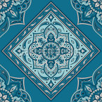 Tiled Indian Paisley Design Pattern