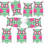 Owl Siblings Seamless Vector Pattern