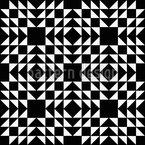 Diamonds And Pyramids Seamless Vector Pattern Design