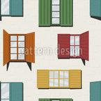 Griechische Fenster Nahtloses Vektormuster