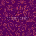 Halloween Elements Seamless Vector Pattern Design