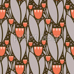Modernistische Tulpen Nahtloses Vektormuster