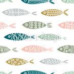 Aquatic Shapes Seamless Vector Pattern Design