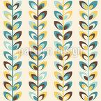 Wachsen der Blätter Muster Design