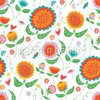 Frühlingsblumen Tanz Vektor Design