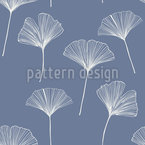 Ginkgo Leaf Seamless Vector Pattern Design