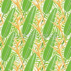 Tropica Heliconia Seamless Pattern