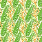 Tropische Helikonie Nahtloses Muster