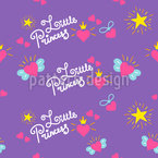 Little Princess Seamless Vector Pattern Design