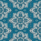 Mandala Mit Paisley-Blume Nahtloses Vektormuster