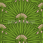 Palm Fan Seamless Vector Pattern Design
