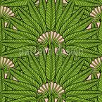 Ventilateur de palme Motif Vectoriel Sans Couture