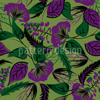 Wildest Flowers Seamless Vector Pattern Design
