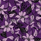 Wild Lillies Seamless Vector Pattern Design