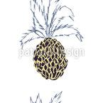 Pineapple Fever Seamless Vector Pattern Design