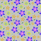 Flowers And Blossoms Repeating Pattern