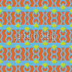 Verkettete Streifen mit Dreiecken Vektor Muster