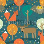 Tiere des Waldes  Rapportiertes Design