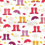 Gumboots und Regenschirme  Musterdesign
