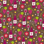 Wein und Gläser  Designmuster