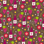 Wine And Glasses Seamless Vector Pattern Design
