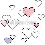 Heart Full Seamless Vector Pattern Design