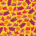 Oak Leaves And Snails Pattern Design