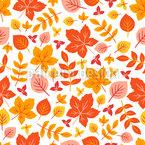 Herbstliches Gartenlaub Musterdesign