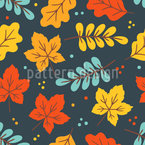 Autumnal Deciduous Mood Seamless Vector Pattern Design