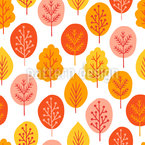 Autumnal Forest Trees Vector Ornament