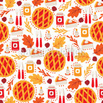 Thanksgiving Dinner Seamless Vector Pattern Design