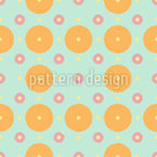 Polka Dots And Disks Vector Pattern