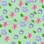 Cute Floral Cotton Repeating Pattern